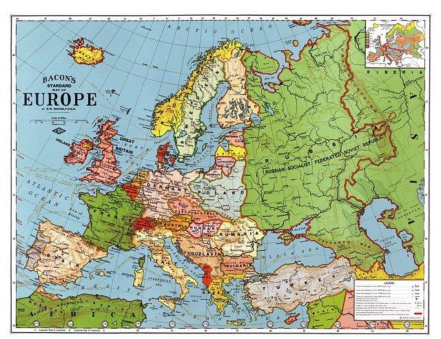 Strahlung in Westeuropa damals und heute